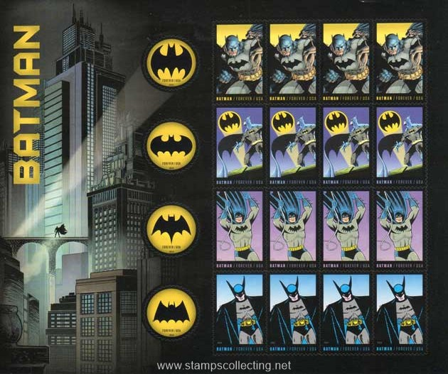 stamps comics Batman