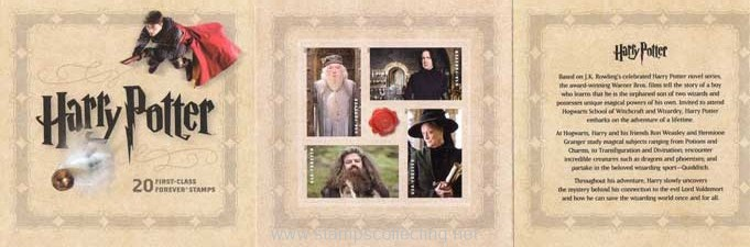 stamps carnet harry potter
